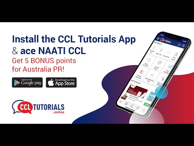 Best Mobile Application For NAATI CCL Preparation | CCL Tutorials